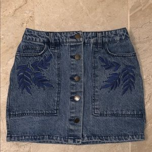 Rebecca Minkoff Mini Denim Skirt